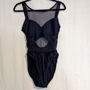 Anne Cole one piece swimsuit. Navy Blue.